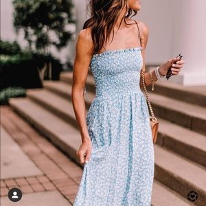 Rare!! Reformation Sable Midi Dress - Azzurro